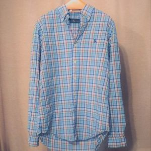 Ralph Lauren Button Down Mens Shirt Size M